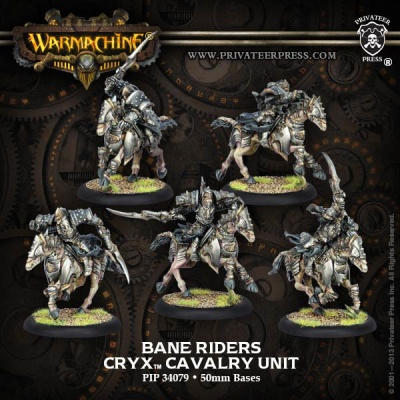 Cryx Bane Riders Cavalry Unit Box (5) (plastic)