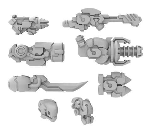 Nemesis A Weapon Pack - Warcaster Aeternus Continuum Pack