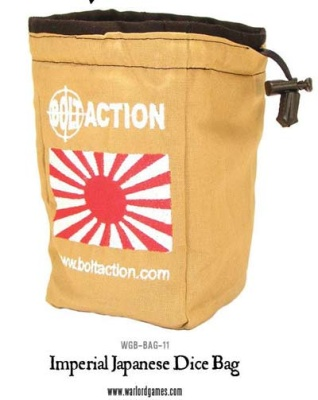 Bolt Action Japanese Dice Bag & Dice (White)