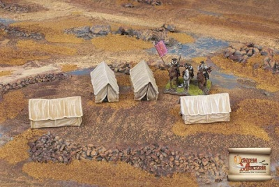 Western style military tents medium