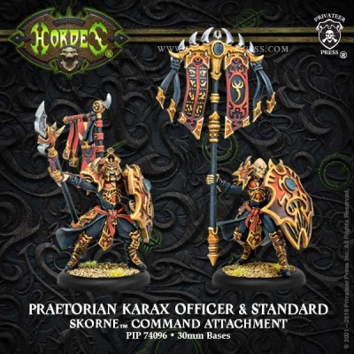 Skorne Praetorian Karax Commander & Standard Attachement