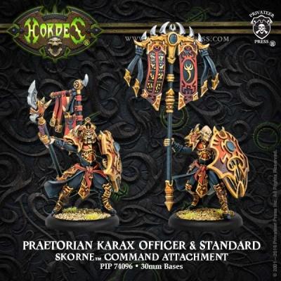Skorne Praetorian Karax Commander & Standard Attachement