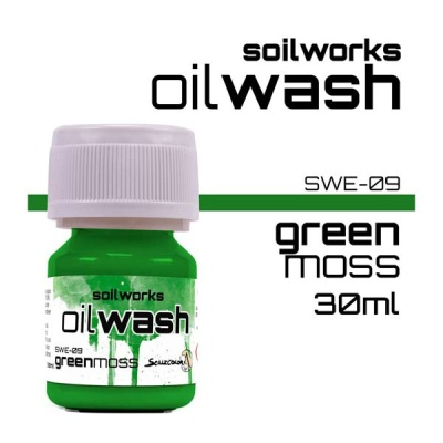 Oil Wash: Green Moss