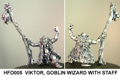 Viktor, goblin wizard with staff