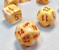 Chessex Dice Sets: Festive Sunburst/red 12mm d6 (36)