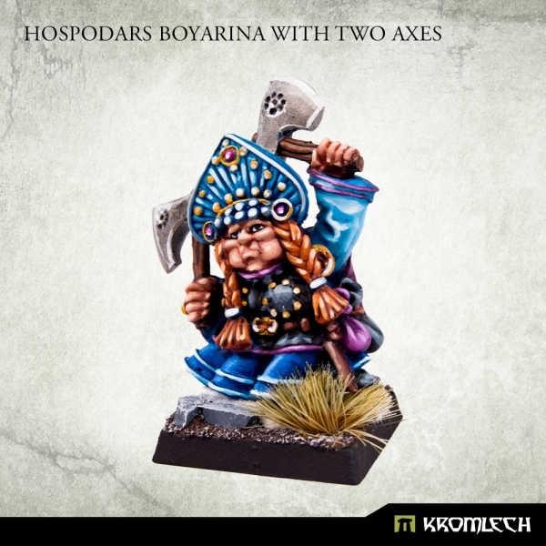 Hospodars Boyarina with two axes (1)