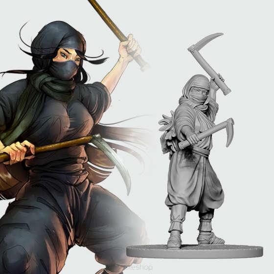 Fujiko the Ninja (28mm)