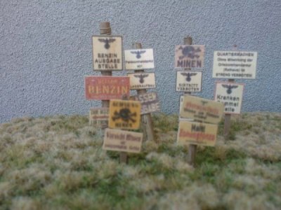 Wooden Signs WWII - Germany Set 2