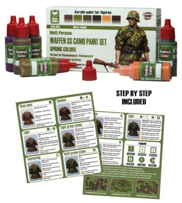 Waffen SS Camo Paint Set (spring colors)