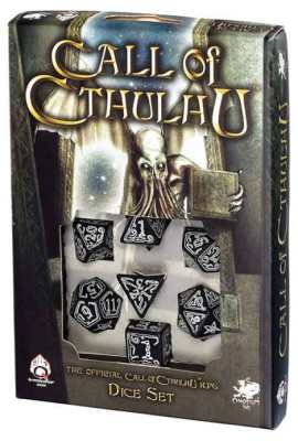 Black&Glow in the dark Call of Cthulhu dice set (7)
