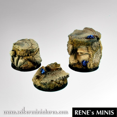 Egyptian Ruins 25mm Round (3) (OOP)