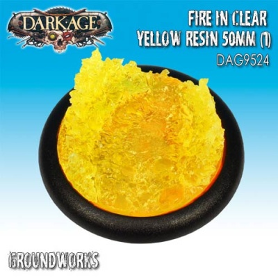 Groundwerks Base Inserts - 50mm Opaque Yellow Fire (1)