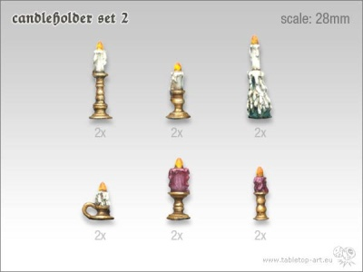 Kerzenständer Set 2