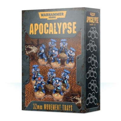 WH40k Apocalypse Movement Trays (32mm) (12)