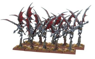 Abyssal Dwarf Gargoyles Half-Regiment (10)