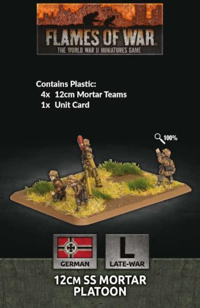 12cm SS Mortar Platoon (x4 Plastic)