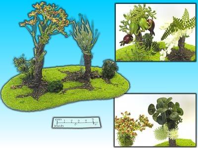 Geländestück Exotische Bäume
