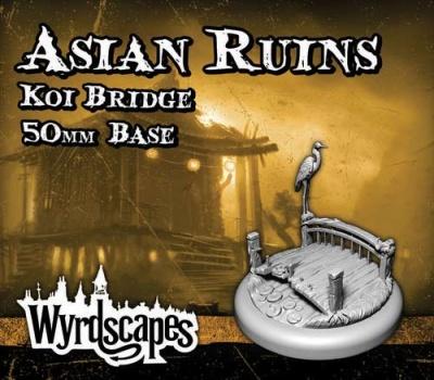 Wyrdscapes - Asian Ruins 50mm Base (Koi Bridge)