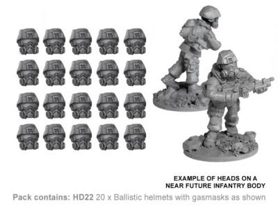 Ballistic Helmets with Gasmasks (20)