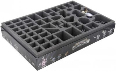 Schaumstoffeinlage mit 52 Fächern für Warhammer Quest-Box