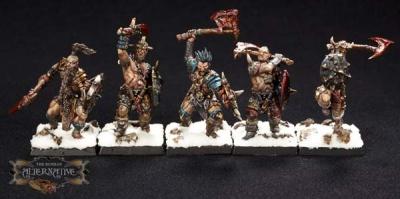 Wasteland Barbarians (Hand Weapon/Shield) (10) RESIN