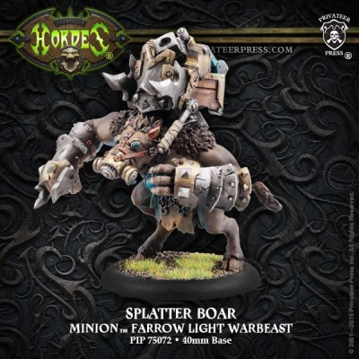 Minion Farrow Light Warbeast Splatter Boar