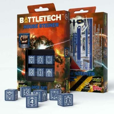 Battletech House Steiner D6 Dice (6)
