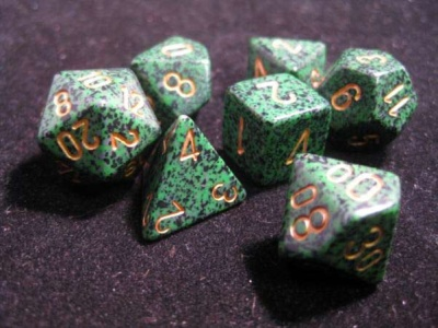 Chessex Golden Recon Speckled 7-Die Set