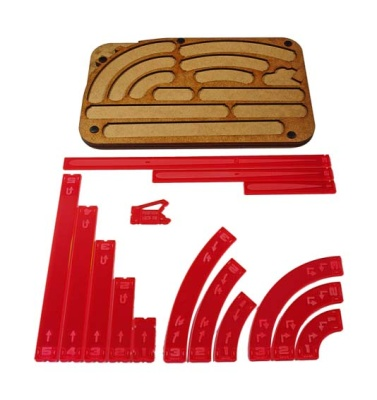 Space Fighter Manouver Tray - Red