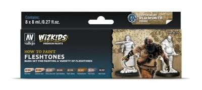 Vallejo Wizkids Premium: Fleshtones (8ml) (8)