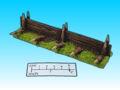 Geländestück Befestigungszaun