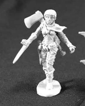 Numenera: Female Glaive (Axe on Back)