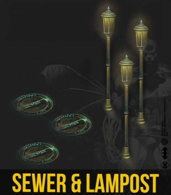 Sewer and Lamppost Set (3+3)