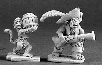 Goblin Pirate and Powder Monkey