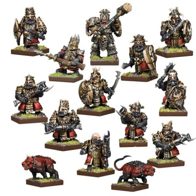 Kings of War Vanguard: Abyssal Dwarf Warband Set