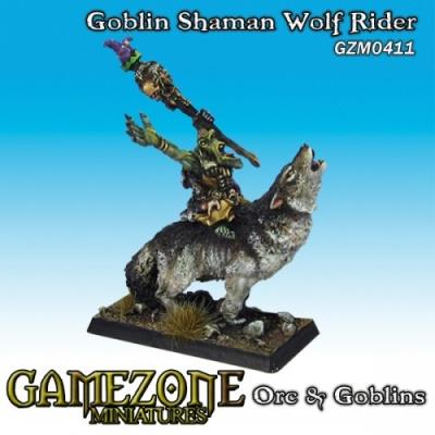 Goblin Schamane auf Wolf (1)
