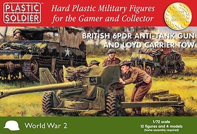 1/72: British 6 pdr anti tank gun and Loyd carrier tow (2)