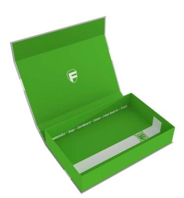Feldherr Magnetbox half-size 55 mm grün leer