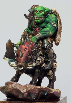 Orc on Boar (75mm)