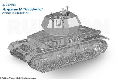 "Rubicon 28mm Flakpanzer IV ""Wirbelwind"""