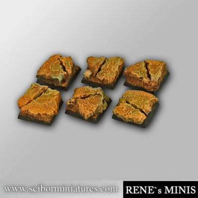 Royal Lion Ruins 20mm square bases (OOP)