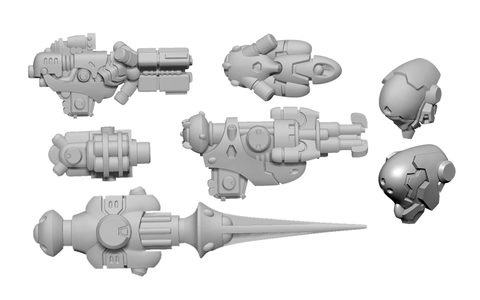 Firebrand B Weapon Pack - Warcaster Iron Star Alliance Pack