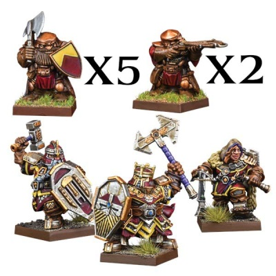 Kings of War Vanguard: Dwarf Warband Set