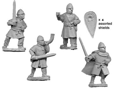 Unarmoured Norman Infantry Command (4)