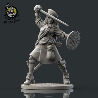 Ailsa, the Highlander (28mm)