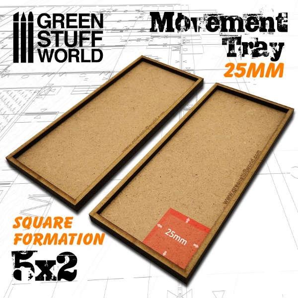 MDF Movement Trays 25mm 5x2