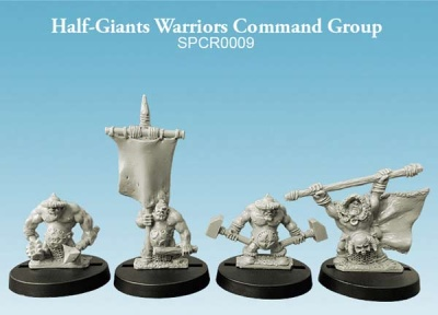Half-Giant Warriors Command Group (10mm) (4)