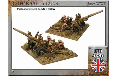 "8th Army Brirish 5.5"" Guns and Crew"