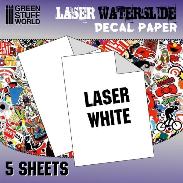 Waterslide Decals - Laser White