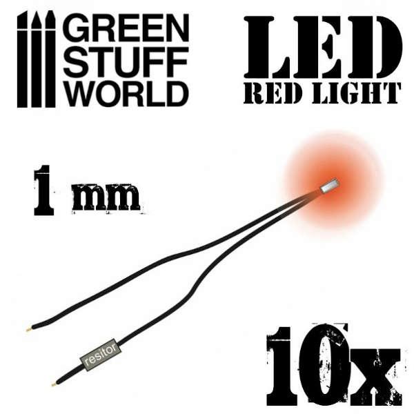Red LED Lights - 1mm (10)